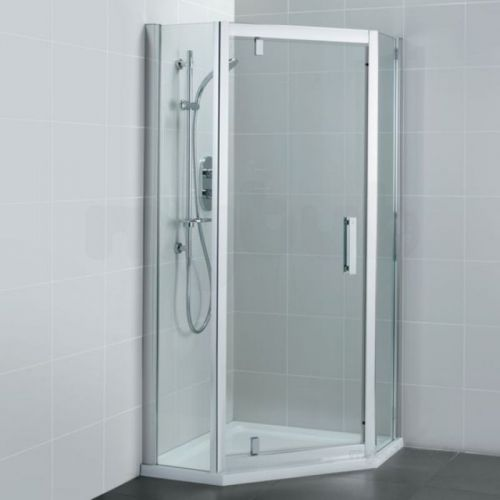 Ideal Standard Synergy Pivot Door and Panels Pentagon Shower Enclosure