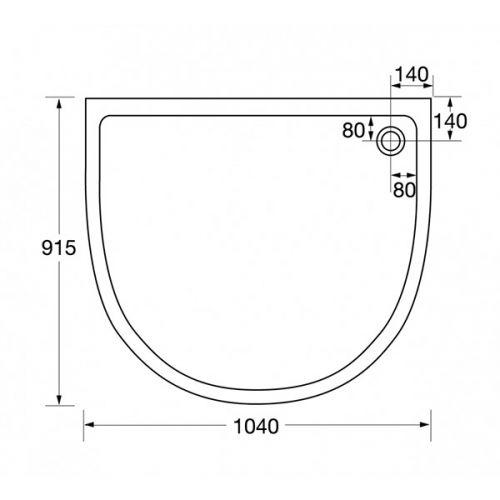 identiti2 U shape quadrant technical drawing