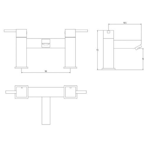 Aquatrend IXOS Bath Filler Dimensions