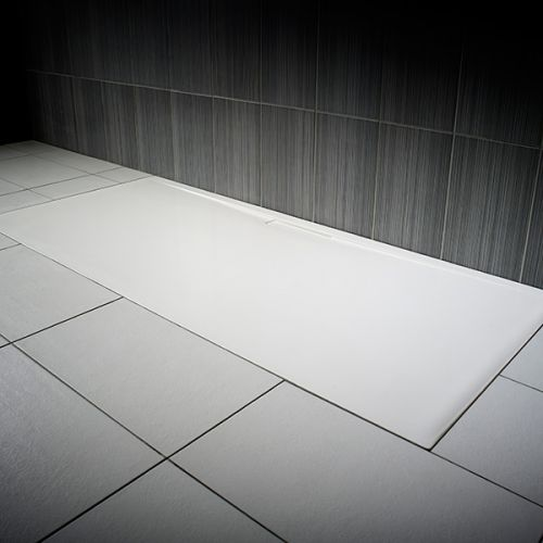 JT Evolved rectangular shower tray in gloss white