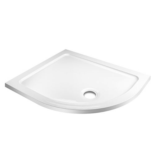 Koncept offset quadrant stone resin shower tray RIGHT HAND