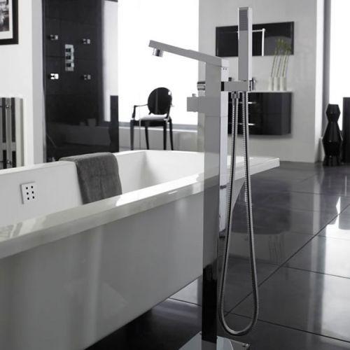 Kubix Freestanding Thermostatic Bath Shower Mixer Lifestyle Shot