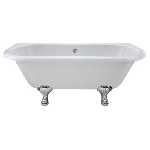 Double Ended Back To Wall Freestanding Bath Front View