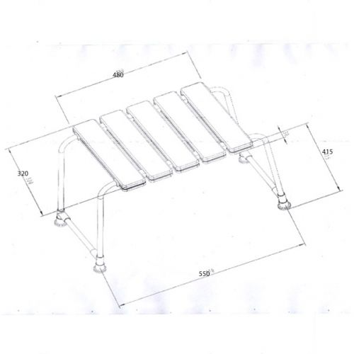 Luxury Shower Bench Technical