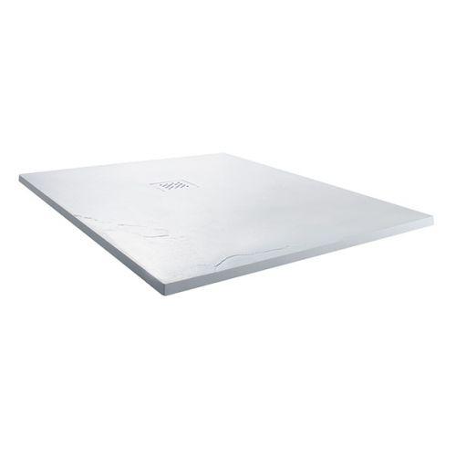 White slate square shower tray