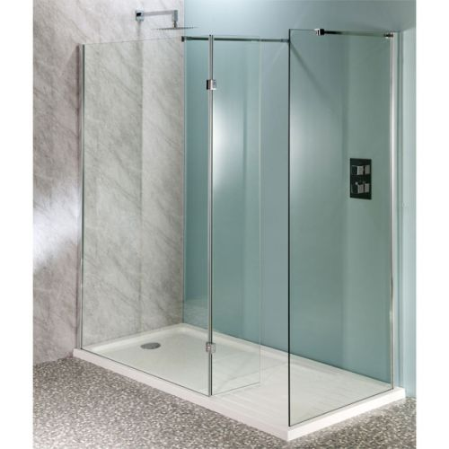 Aquatech 10mm Wet Room Panels with 300mm Hinged Panel & Side Panel