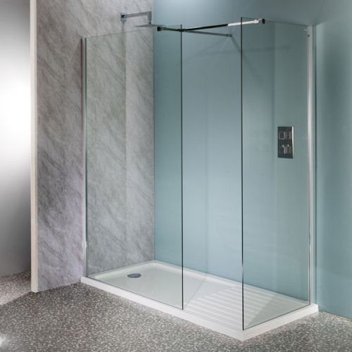 Aquatech 10mm Wet Room Panels with Matching Side Panel