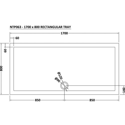 1700x800 Technical drawing