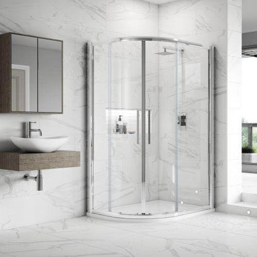 Apex EasyFit Offset Quadrant Shower Enclosure in 4 sizes