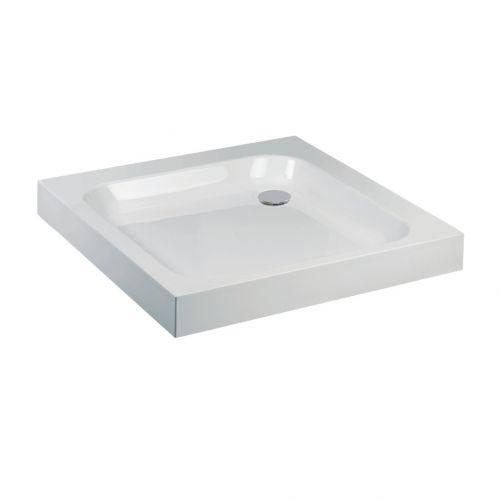 High walled Aquaglass square shower tray