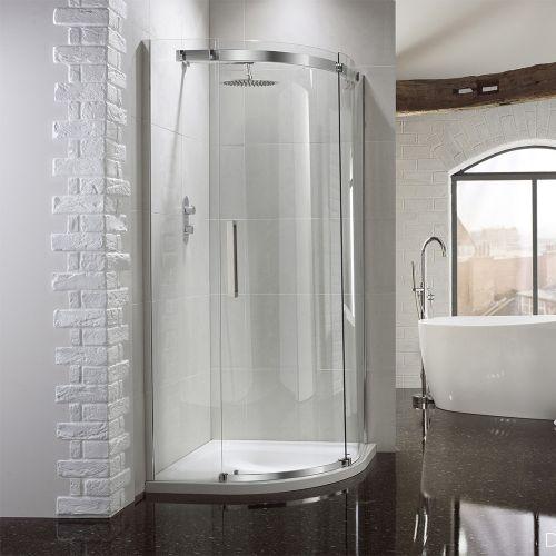 Aquaglass+ Elite 10mm Glass Quadrant Shower Enclosure