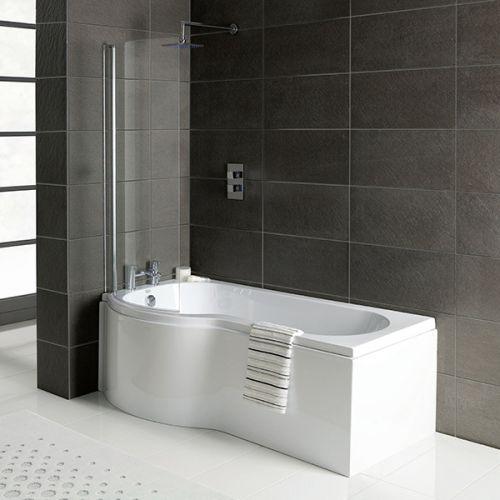 Armis P Shaped Shower Bath