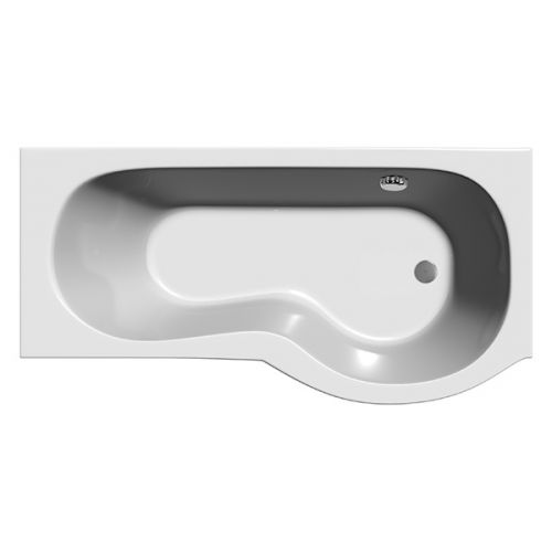 Top down view of the Armis shower bath showing waste position