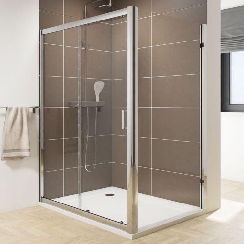 6mm Sliding shower door with side panel