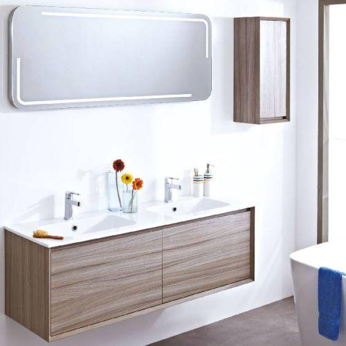 Large Enzo mirror above bathroom furniture