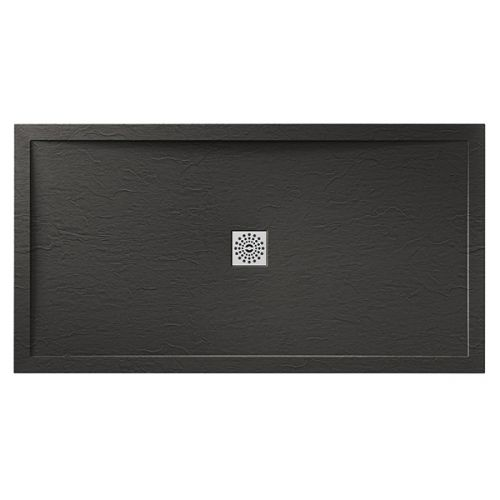 Matching grey/black slate shower tray