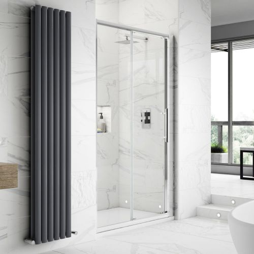 Apex sliding shower door