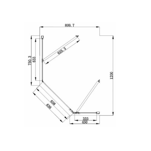 Idyllic offset pentangle technical drawing