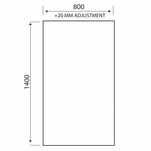 LS888B Scudo bathscreen technical drawing