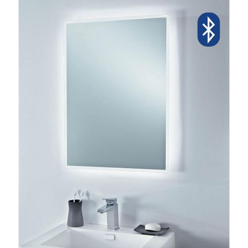 Phoenix Play Bluetooth bathroom mirror  with shaver socket MI043