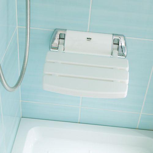 White Folding Shower Seat