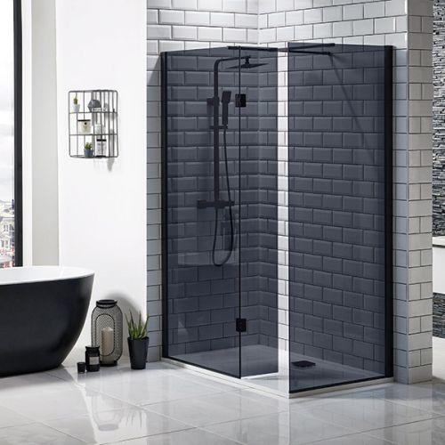 Mono black walk in shower screen