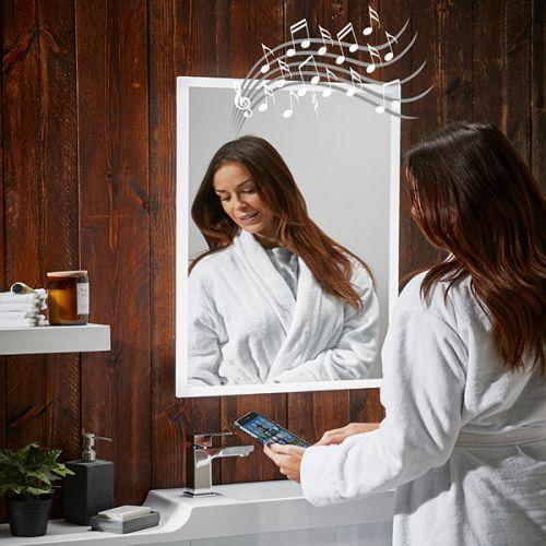 Mosca Bluetooth Speaker Heated Bathroom Mirror