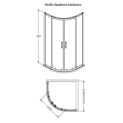 Pacific corner quadrant technical drawing