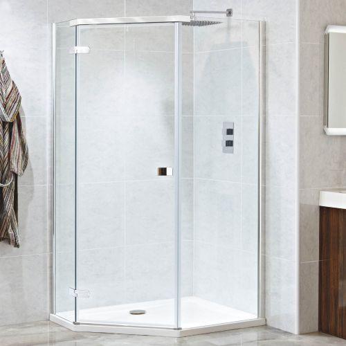 Phoenix Idyllic 8mm Offset Pentangle Shower Enclosure LH Opening