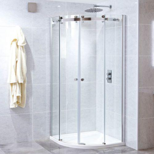 Phoenix Motion Quadrant Frameless Shower Door