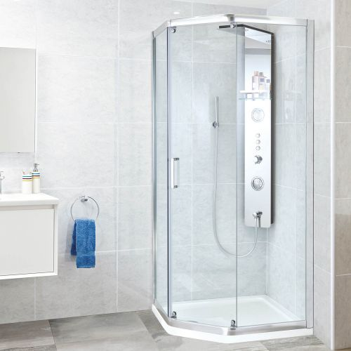 Phoenix Spirit Pentangle Shower Enclosure with sliding door