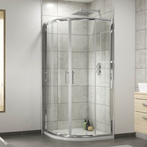 Premier Pacific quadrant shower enclosure fitted in a bathroom