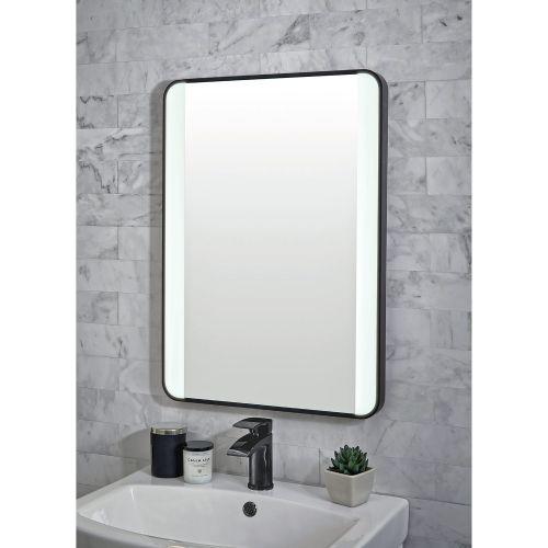 Shield Mono Black Framed Bathroom Mirror