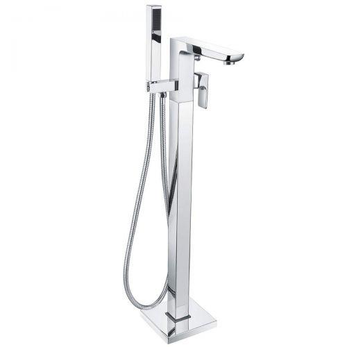 Scudo Muro freestanding bath tap with shower handset