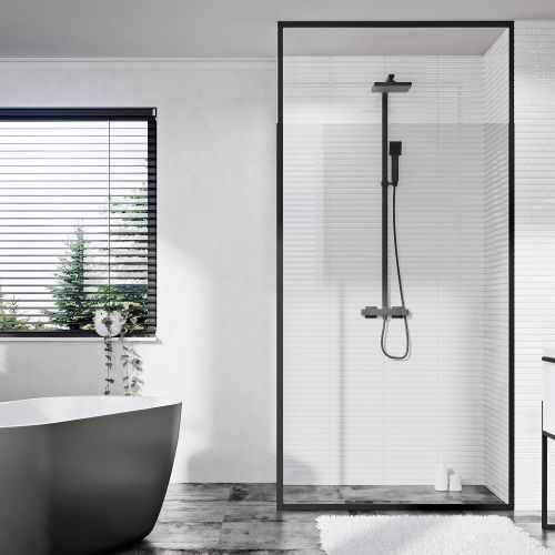 Shield Mono Floor To Sealing Extendable Shower Panel Frame