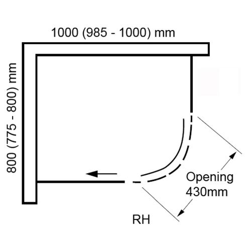 Sphere 1000x800mm RH Technical