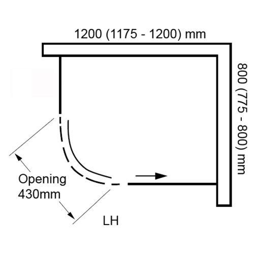 Sphere 1200x800mm LH Technical