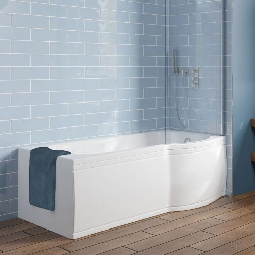Trojan Concert P Shaped Shower Bath - RH model shown