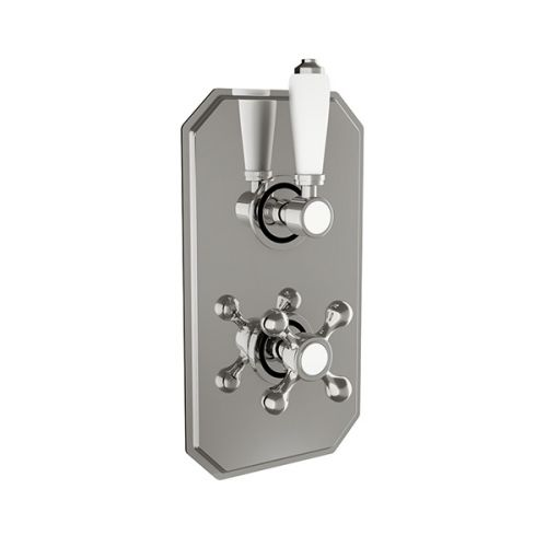 Scudo Traditional Concealed Twin Thermostatic Shower Valve With Diverter