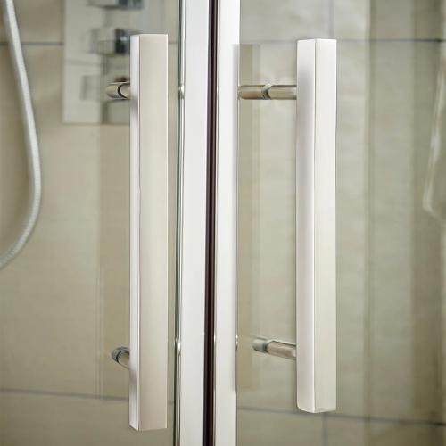 Apex shower enclosure handles