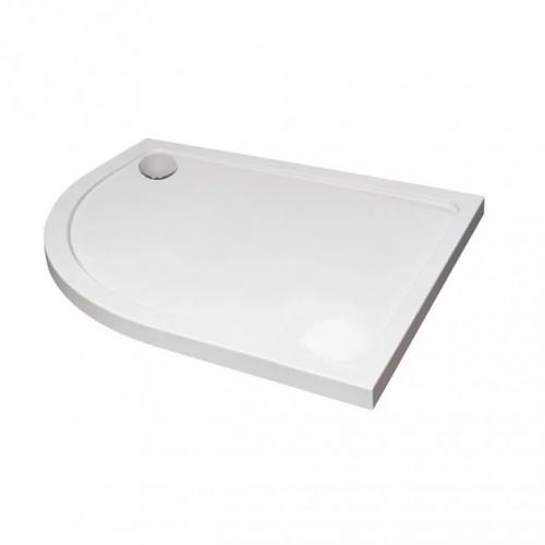 April/Aquadart Offset Quadrant Stone Resin Shower Tray