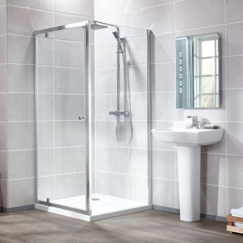 Aquaglass Essentials 6mm Pivot Hinge Shower Door