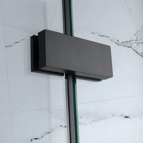 Large black brackets for the aquaglass hinge door