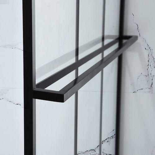 Aquaglass Velar+ Walk In Shower Towel Rail detail