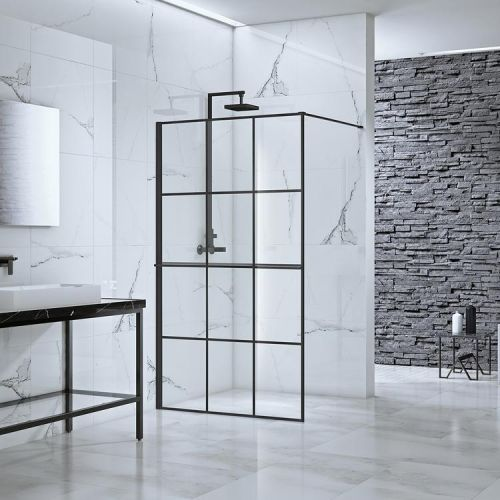 Aquaglass Velar+ Crittall Walk In Shower