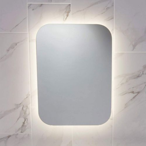 Scudo Aura LED Bathroom Mirror With Warm White Light Setting