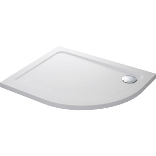 Mira Flight safe offset quadrant shower tray
