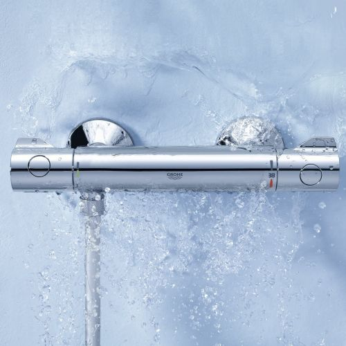 Grotherm 800 thermostatic shower bar valve