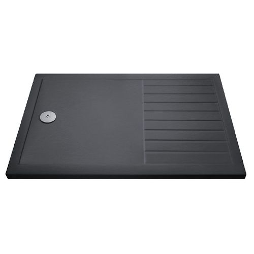 Hudson Reed Slate Grey Walk In Shower Tray with drying area