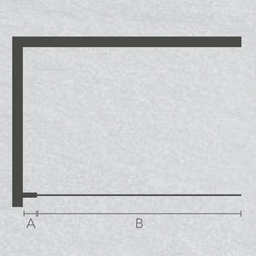 Jaquar Black Frame Shower Screen Technical Drawing JSE-BLK-J8WSS900BGX